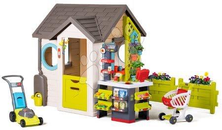 novi-proizvod - Vrtna kućice Garden House Smoby s izuzetnom opremom s trgovinom i kosilicom od 24 mjes