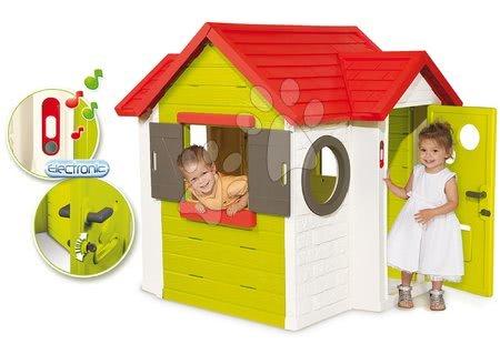 Domček pre deti My House Smoby s 2 dvierkami a elektronickým zvončekom od 2 rokov