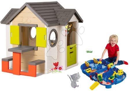 Set domček My Neo House DeLuxe Smoby so zvončekom stolíkom a vodná dráha Aquaplay Lock Box v kufríku od 24 mes