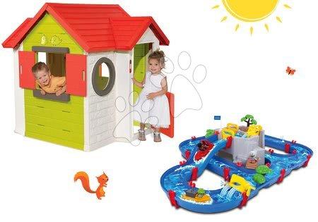 Set dětský domeček My House Smoby se zvonkem a vodní dráha AquaPlay Mountain Lake od 2 let