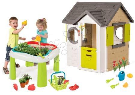 Set domček My Neo House DeLuxe Smoby s elektronickým zvončekom a stôl Záhradník De Jardinage 2v1