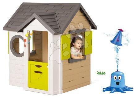 Set domček My Neo House DeLuxe Smoby s elektronickým zvončekom a striekajúca vodná chobotnica
