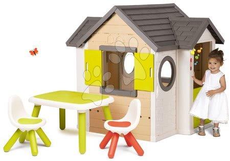 Set domček My Neo House DeLuxe Smoby s elektronickým zvončekom a stolík s 2 stoličkami Kid od 24 mes