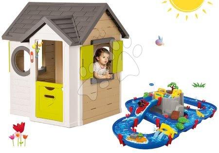 Set domček My Neo House DeLuxe Smoby so zvončekom a vodná dráha Aquaplay Mountain Lake od 24 mes