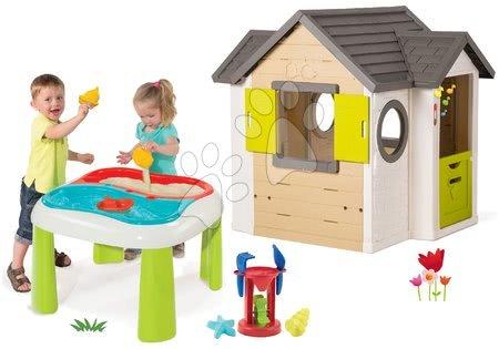 Set domček My Neo House DeLuxe Smoby s elektronickým zvončekom a stôl Voda&Piesok od 24 mes