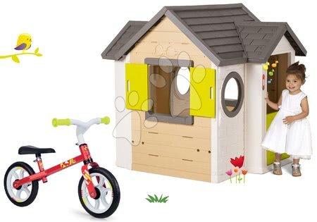 Set domček My Neo House DeLuxe Smoby s elektronickým zvončekom a balančné odrážadlo Learning Bike od 24 mes
