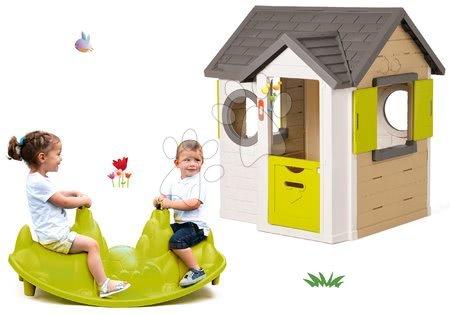 Set domček My Neo House DeLuxe Smoby s elektronickým zvončekom a hojdačka Pes obojstranná od 24 mes