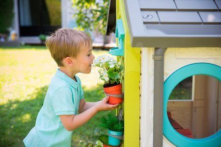 Domečky pro děti - Domeček pro zahradníka Garden House Smoby výjimečně rozšiřitelný se zahradním nářadím od 24 měsíců_1