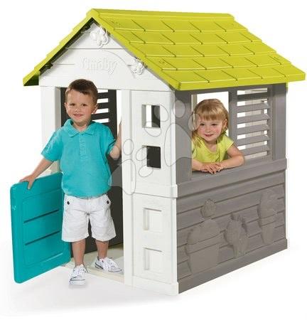 Bob the Builder - Komplet hišica Jolie Smoby modra s 3 okni in 2 žaluzijami in motorna žaga z vrtalnikom Bob The Builder od 24 mes_1
