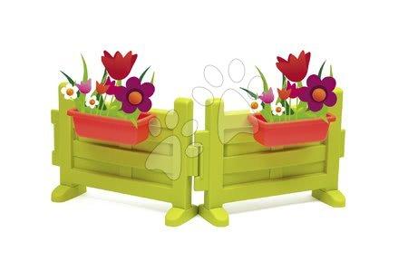 Předzahrádka se dvěma květináči k domečku Smoby Neo Jura Lodge a Friends House s UV filtrem