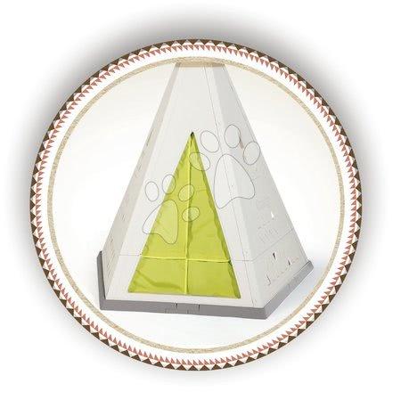 Igračke za djecu od 2 do 3 godine - Prirodni šator Indoor&Outdoor Teepee Evolutive Smoby podesiv s luksuznim piknik setom na vrtu i roštiljem od 24 mjes_1