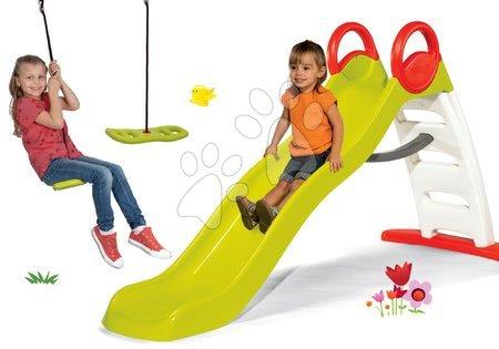 Set toboganToboggan Funny Smoby lungime 200 cm și leagăn Active Swing