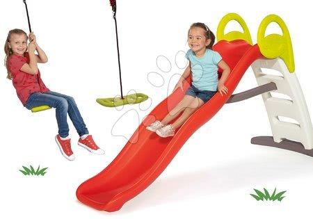 Skluzavky s houpačkou - Set skluzavka s vodotryskem Funny Double Toboggan 2metrová Smoby a houpačka Activity Swing