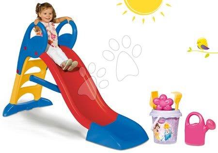 Princese - Set tobogan Toboggan KS Smoby s vodom 150 cm i set s kanticom za pijesak Princeze od 24 mjeseca
