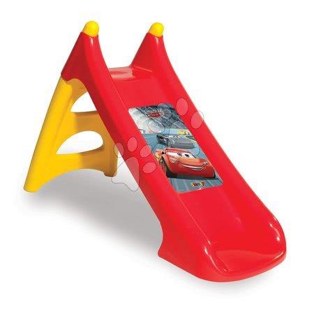 Tobogane pentru copii - Tobogan Maşini 3 Smoby Toboggan XS cu apă şi cu filtru UV 90 cm de la 24 luni