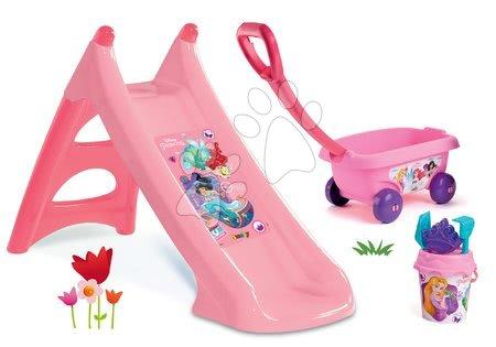 Princese - Set tobogan Princeze Toboggan XS Smoby dužine 90 cm te kolica sa setom s kanticom Princeze