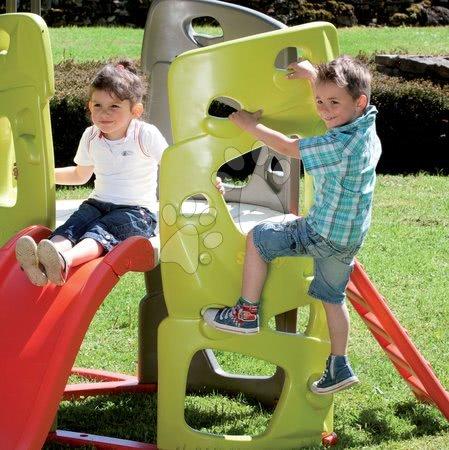Igračke i igre za vrt - Penjalica Multiactivity Climbing Tower Smoby s trima zidovima za penjanje i toboganom od 150 cm s UV filtrom, od 2 godine_1
