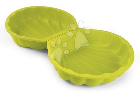 Nisipare pentru copii - Nisipar scoică set 2 bucăți Mini Sand Pit Smoby verde 35 cm pentru spații mici de la 18 luni