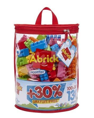 Építőjátékok - Építőkockák táskában Abrick Écoiffier 100 kocka + 30 % ingyen = 130 kocka 18 hó-tól