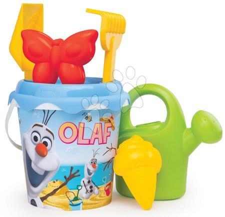 SMOBY 862004 Vedro set do piesku Frozen-OLAF stredné s krhlou a formičkami od 18 mesiacov