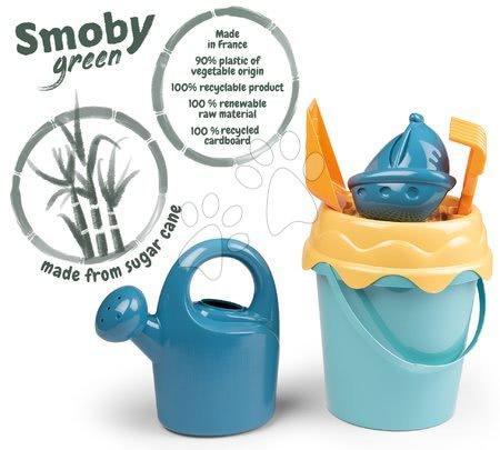 Kültéri játékok - Vödör szett Cukornádból BIO Green Smoby vegetable origin 100% újrahasznosítható