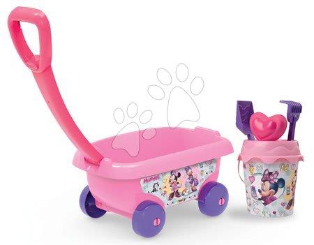 Smoby detský vozík na ťahanie Minnie s vedro setom 867002