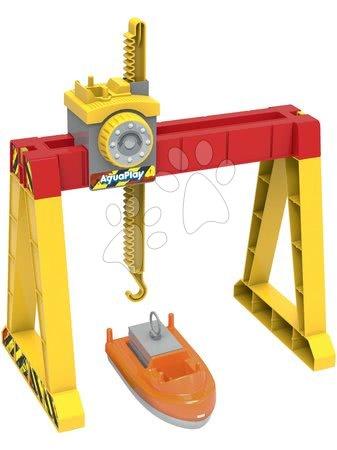AquaPlay - Kontejnerový jeřáb ke všem vodním drahám AquaPlay s 360° pohyblivostí a loď s kontejnerem