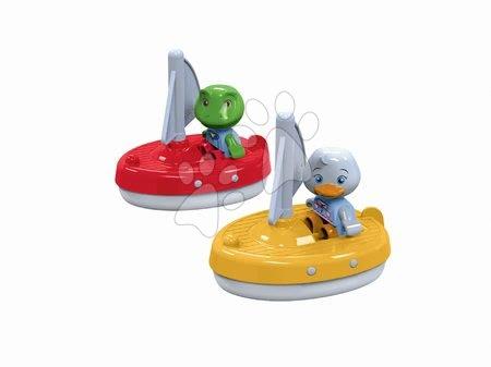 Plachetnice Aquaplay so žabiakom Nilsom a s kačičkou Lottou