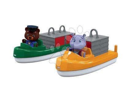 Sada kontejnerová a nákladní loď AquaPlay s hrošicí Wilmou a medvědem kapitánem Bo