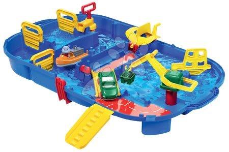 AquaPlay - Vodní dráha AquaPlay LockBox v kufříku s hrošíkem Willmou a přehradou s vodní pumpou