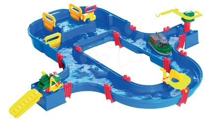 Vyskladaj si hračky podľa predstáv - Vodná dráha SuperSet AquaPlay s hrošíkom Wilmou a priehradou s vodnou pumpou
