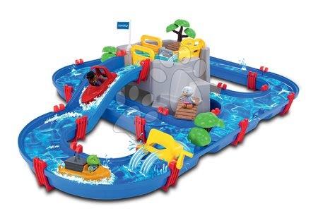 Vyskladaj si hračky podľa predstáv - Vodná dráha Mountain Lake AquaPlay s horskou jaskyňou, šmykľavkou a priehradou s 2 figúrkami