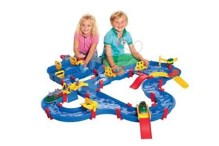 Sestavi si igrače po želji - Vodna steza Amphie World AquaPlay s pregrado, črpalko in mostovi_1