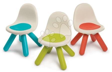 Hrací a piknikové stoly - Set 3 kusy – židlička KidChair Smoby zelená/modrá/červená s UV filtrem od 18 měsíců