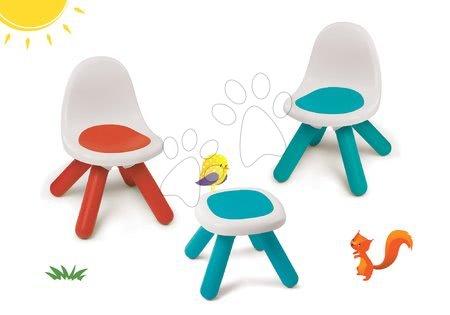 Hrací a piknikové stoly - Set židlí KidChair Smoby se stolkem (UV filtr) modrá červená a modrý stolek od 18 měsíců