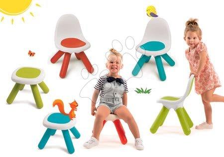 Kid - Set 3 židlí KidChair Smoby a 3 stolků (UV filtr) modrá červená zelená od 18 měsíců
