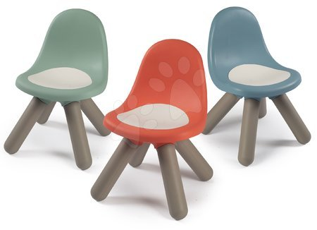 Hrací a piknikové stoly - Židle pro děti KidChair Smoby olivová modrošedá korálová s UV filtrem 50 kg nosnost od 18 měsíců
