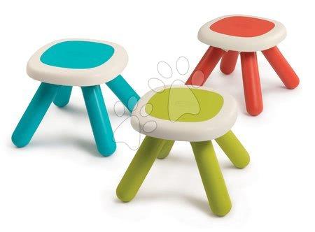 Hrací a piknikové stoly - Set 3 kusy – taburetka KidStool Smoby 2v1 zelená/modrá/červená s UV filtrem od 18 měsíců