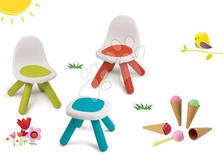 Hrací a piknikové stoly - Set stůl Kidstool  Smoby a židle KidChair a zmrzlina s kornoutkem od 24 měsíců