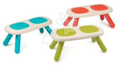 Hrací a piknikové stoly - Sada 3 lavic pro děti KidBench Smoby zelená/modrá/červená s UV filtrem od 18 měsíců