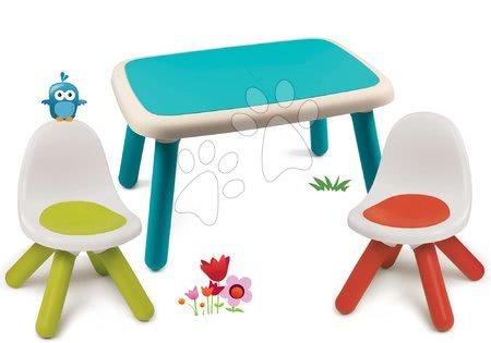 Kid - Set stůl pro děti KidTable modrý Smoby se dvěma židlemi s UV filtrem