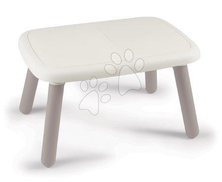 Hrací a piknikové stoly - Stůl pro děti KidTable White Smoby šedokrémový s UV filtrem 76*52*45 cm od 18 měsíců