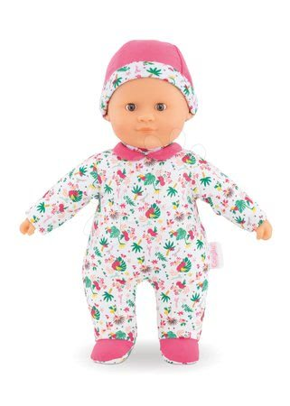 Panenky od 9 měsíců - Panenka Sweet Heart Tropicorolle Corolle s hnědýma očima a snímatelnou čepičkou 30 cm od 9 měs