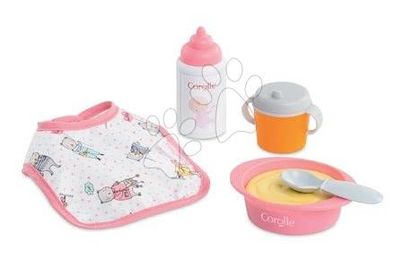 Dodatki za punčke in dojenčke - Jedilni set s slinčkom Bébé Calin Corolle za 30 cm dojenčka 5 dodatkov od 18 mes