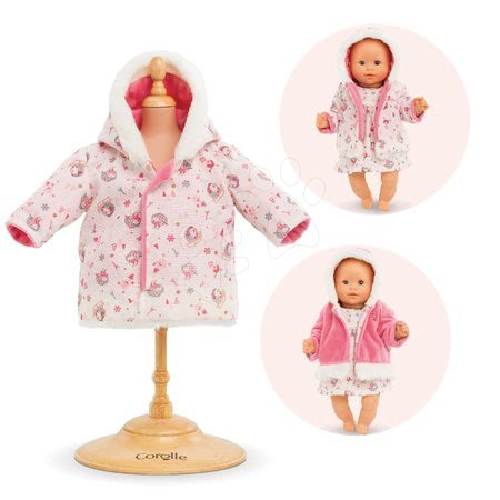 Oblečenie Coat-Enchanted Winter Bébé Corolle pre 30 cm bábiku od 18 mes