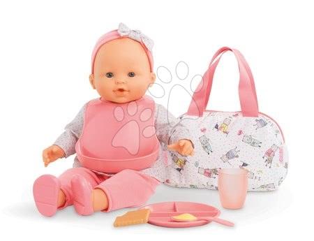 Dodatki za punčke in dojenčke - Torbica s slinčkom in kosilo Mealtime set Mon Grand Poupon Corolle za 36-42 cm dojenčka od 24 mes_1