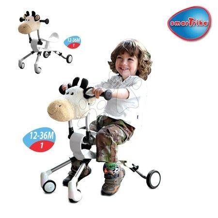 Vozidlá pre deti smarTrike - Odrážadlo Springo Farm kravička smarTrike biele od 12 mes_1
