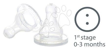 Dudlík na láhve Beaba silikonový se dvěma otvory 2 kusy od 0-3 měs