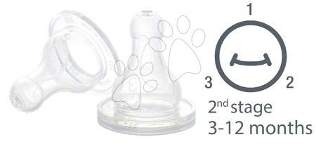 Cumlík na fľaše Beaba silikónový 1 stredný otvor 2 kusy od 3-12 mesiacov