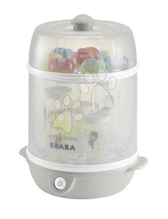 Sterilizátor dojčenských fliaš Beaba Express 2v1 elektrický šedý od 0 mesiacov